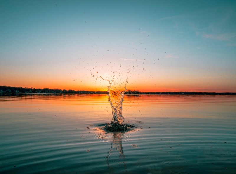 time lapse photography of water